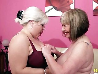 Oldnanny Two Hot Matures Lesbo Fucky-fucky Venture