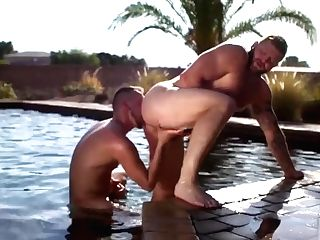 Massive Muscle Patriarch Has His Massive Caboose Pounded By A Toned Youthfull Jock