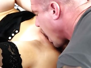 Russian Blonde In Sexy Stockings Shagging For Money-shot - Max Dyor
