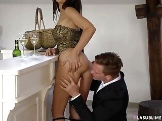 Hot Dark Haired Didnt Even Take Off Her Sundress While She Was Fucking Her Fresh Paramour