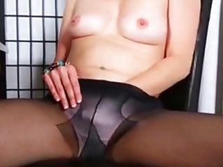 Brief-haired Mom Can't Help Herself
