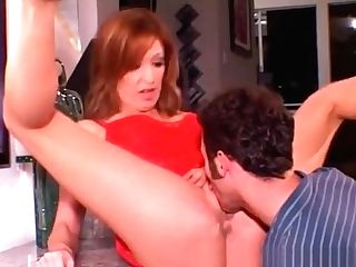 Buxom Red-haired Cougar Christina Has A Youthfull Man Banging Her Sore Peach
