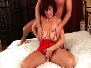 Buxomy Hairy Mom Brutal Rough Fucked