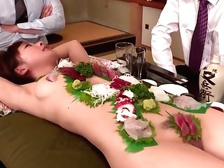 Bod Sushi Bang-out Squirting Petty Japanese Lady Indescribable Amazing Clip