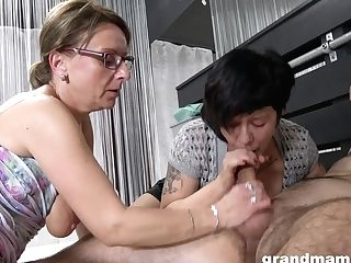 Grandmas 3some Orgy - Hot Matures Pornography