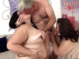Becki Butterfly & Lady Lynn In Drilling Two Chubbies - Jeffsmodels