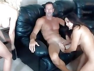 Three Buzzed Mummies And Two Dudes In Xxx Orgy With Facial Cumshot Live