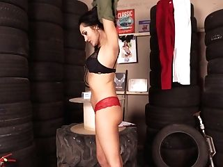 Promiscuous Chick Bonnie Gets Naked And Taunts With Petite Tits And Smooth-shaven Poon