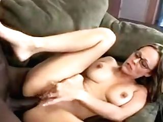 Horny Momma Is Fucking A Big Black Pipe On The Sofa