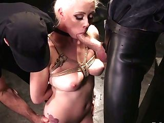 Big Tittied Hooker Lorelei Lee Gets Her Crevices Disciplined In The Dark Sadism & Masochism Room