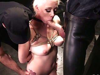 Big Tittied Hooker Lorelei Lee Gets Her Crevices Disciplined In The Dark Sadism & Masochism Room