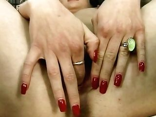Brief Haired Stunner Finger-tickling And Spreading Her Vulva In Sofa After Disrobe Flash