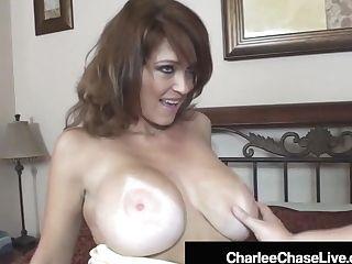 Spunk-pump Thirsty Cougar Charlee Chase Fuckbox Fucks Lush Selah Rain!