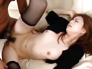 Japanese Wifey In Stockings Copulated By Older Man