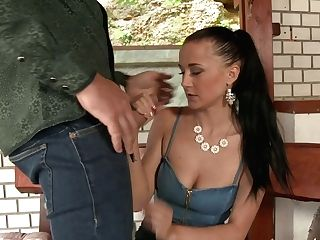 Memorable Clothed Fucky-fucky With Spoiled Dark Haired With Big Cupcakes