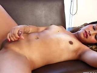 Latina Transsexual Dirty Dances And Strokes Hard Manhood