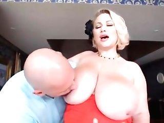 Buxomy Mega-bitch Cougar Samantha 38g Fucks School Dance Instructor