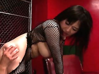 Mummy Chick Azusa Nagasawa With Giant Breasts Gives A Closeup Of Her Love Crevasse While Masturbating