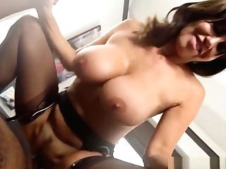 Promiscuous Cougar Maid Gives Head Then Takes Big Black Cock