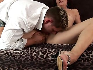 Time Outworn Ginger-haired Mommy Wanda Gets Her Twat Ate By Hunky Stud