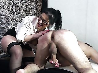 Enormously Wild Dark Haired Mandy Slender Along With Blonde Biotch Work On Dick