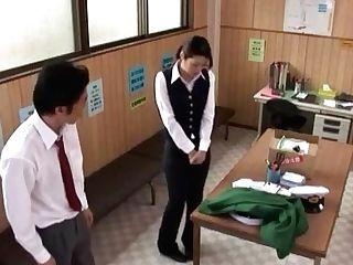 Crazy Japanese Superslut Hikari Hino, Nao Mizuki In Fabulous Cuni, Office Jav Vid