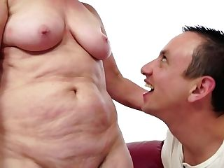 Brown-haired Gilf With Big Natural Tits Fucks Junior Stud - Gonzo With Jizz Shot