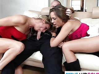 Sexy Threesome With Horny Duo
