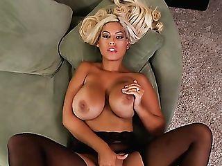 Having Stripteased Huge-boobed Blonde Cougar Bridgette B Desires To Love Mish