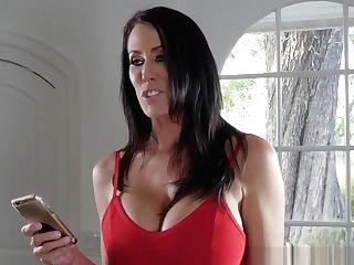 Huge-titted Matures Lesbo Belt Dick Fucks