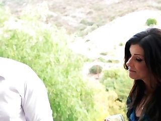 Brown-haired India Summer Lets Stud Stick His Thick Love Torpedo In Her Mouth