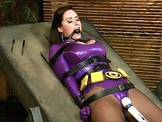 Enslaved Superwoman Christina Carter - Fuckmachine And Restraint Bondage Costume Play