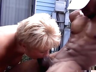 Cougar Tempts Youthfull Big Black Cock