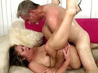 Curvy Blonde Cougar Can't Stop Sucking And Fucking Her Paramour's Big Dick