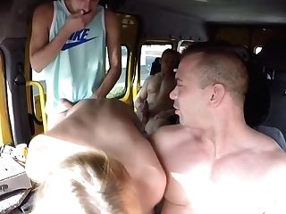 Mummy Gets Gonzo Gang-bang In Bus