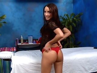 Hot Black-haired Chick Austyn In Crimson Brassiere And Undies Exposes