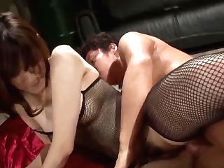 Kanako Iioka Anal Invasion Threesome - More At Japanesemamas.com