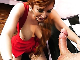 Awesome Huge-titted Sandy-haired Lauren Phillips Is So Into Railing Strong Schlong Of Her Stud