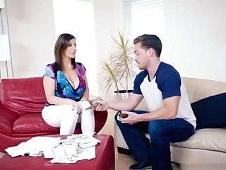 Buxomy Cougar Mom Fucks With The Neighbours Boy For Money