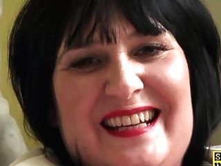 Chubby Uk Matures Frigs Her Vag In Fishnets